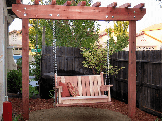Freestanding Arbor Swing