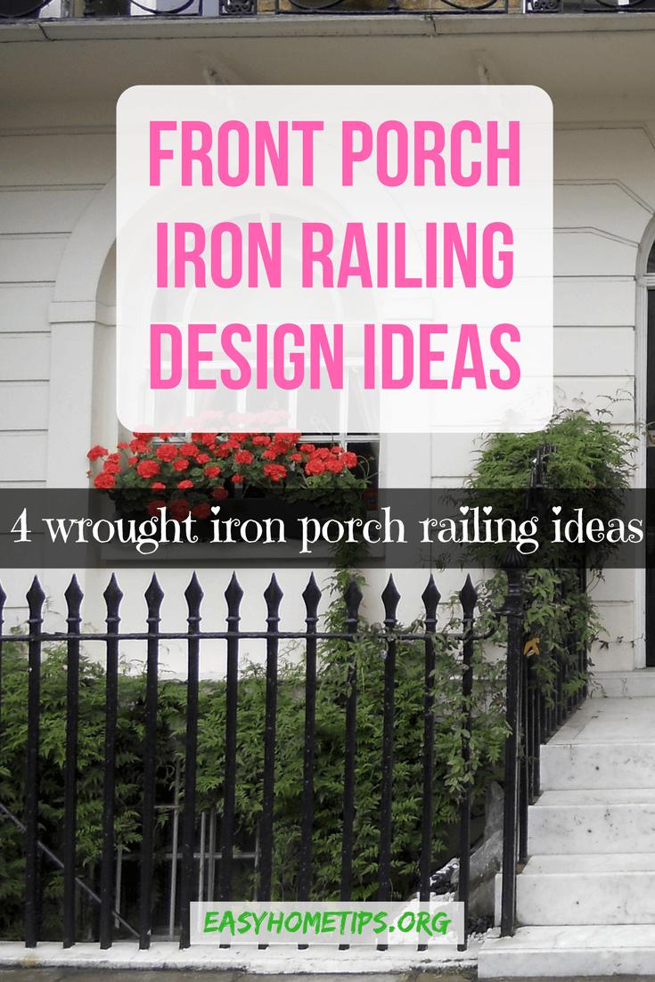 Front Porch Iron Railing Design Ideas