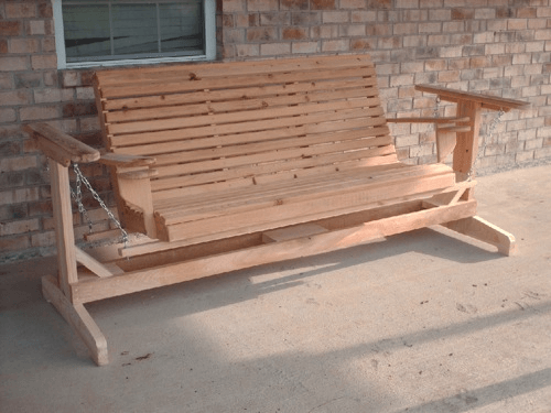Front porch glider swing