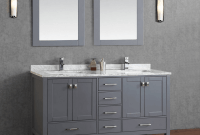 Gray Bathroom Vanity with Sink