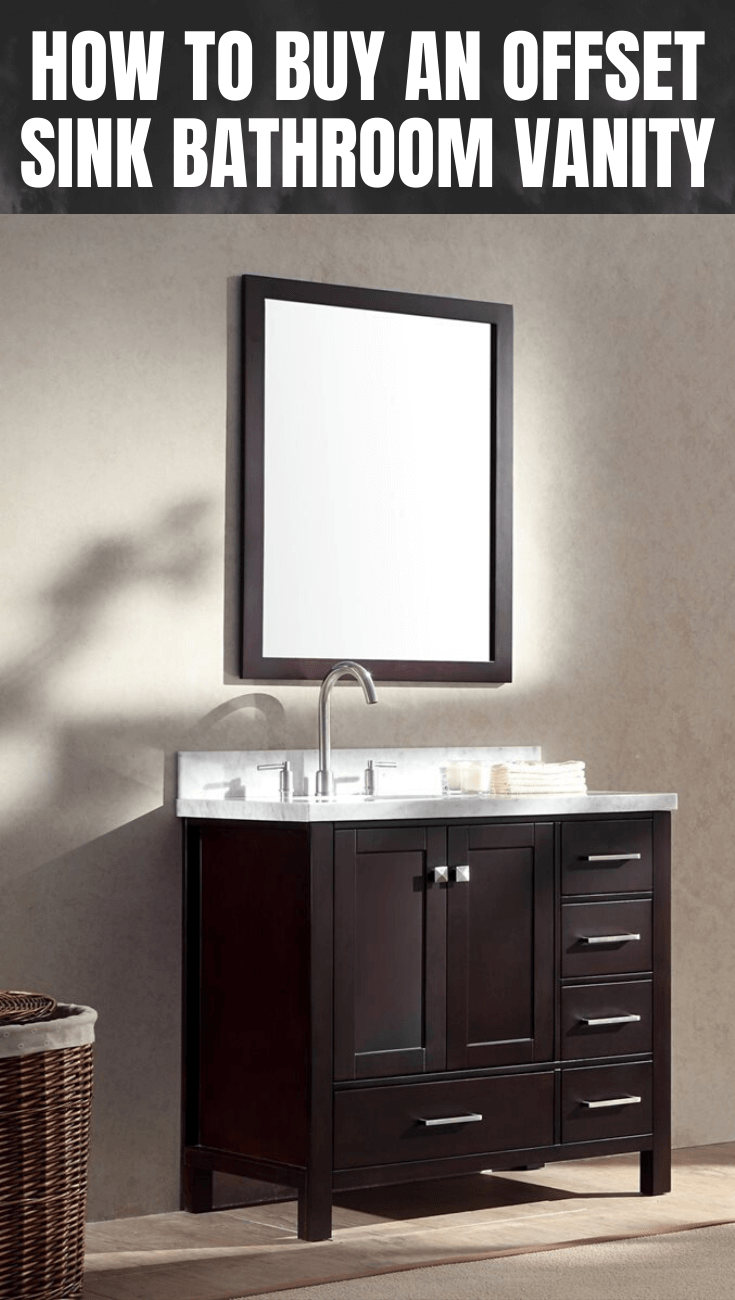 HOW TO BUY AN OFFSET SINK BATHROOM VANITY