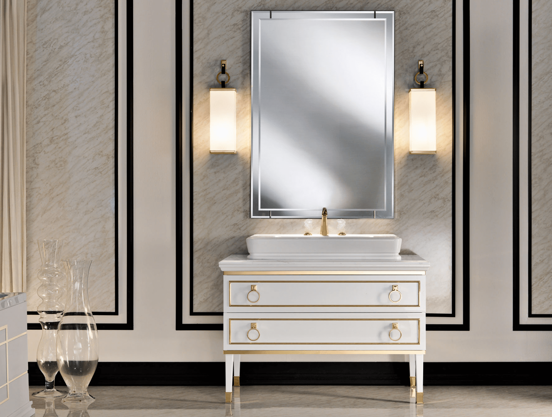 High end bathroom vanity mirrors