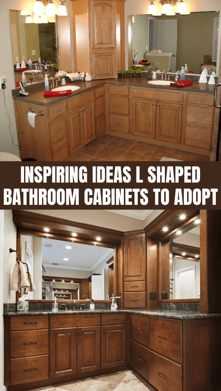 INSPIRING IDEAS L SHAPED BATHROOM CABINETS TO ADOPT