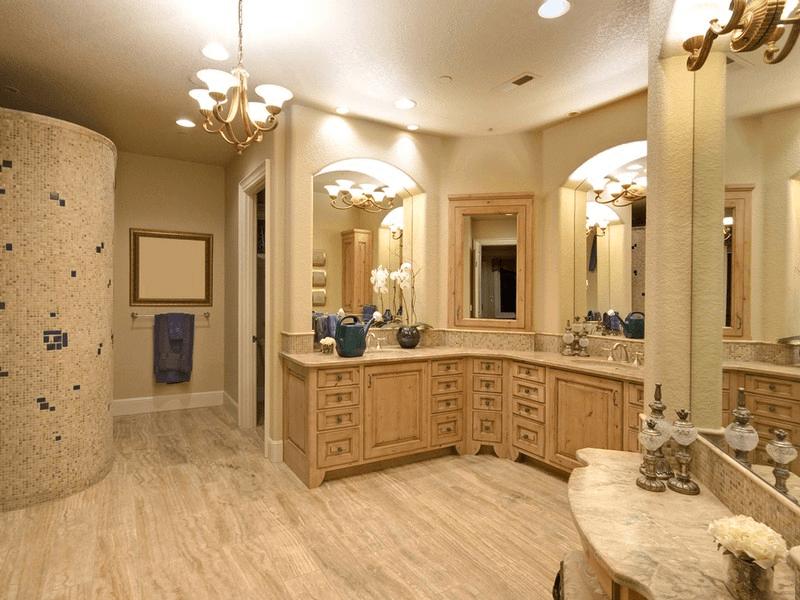 L Shaped Bathroom Cabinets