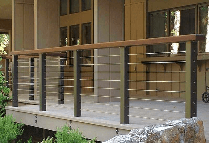 Modern deck outdoor porch railing ideas