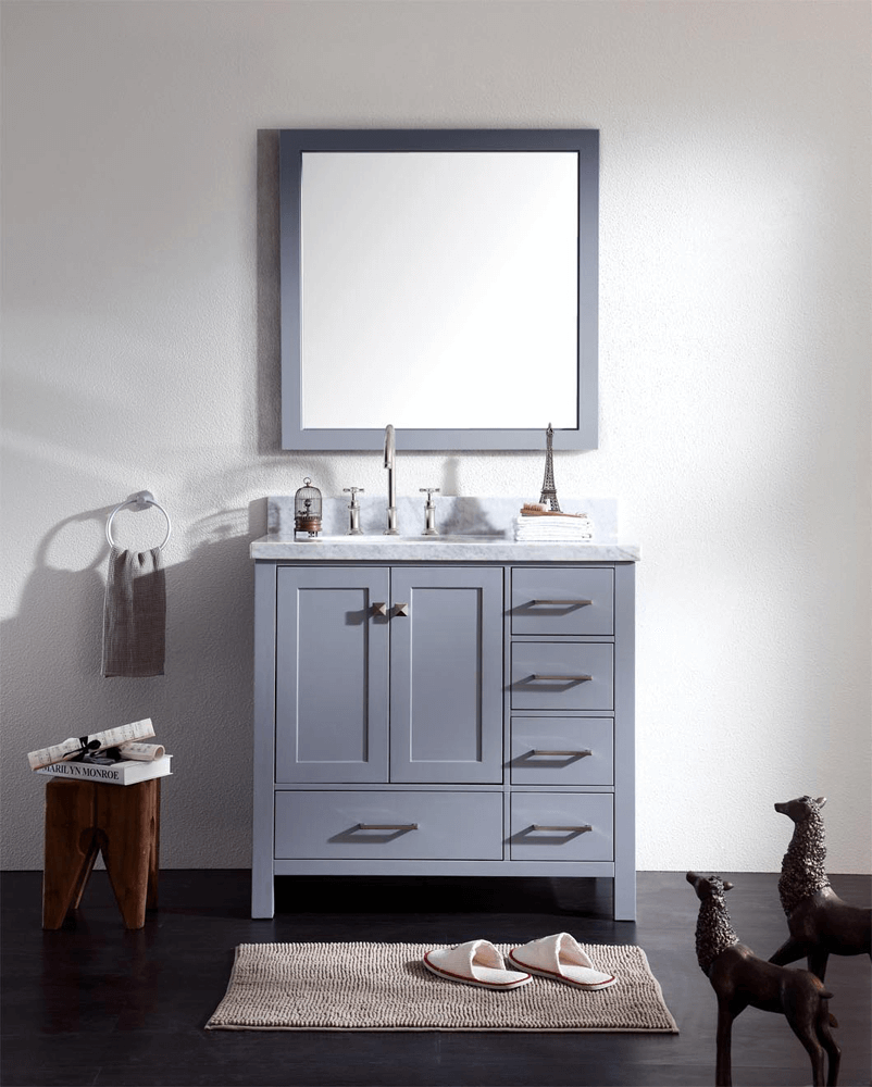 Offset sink bathroom vanity