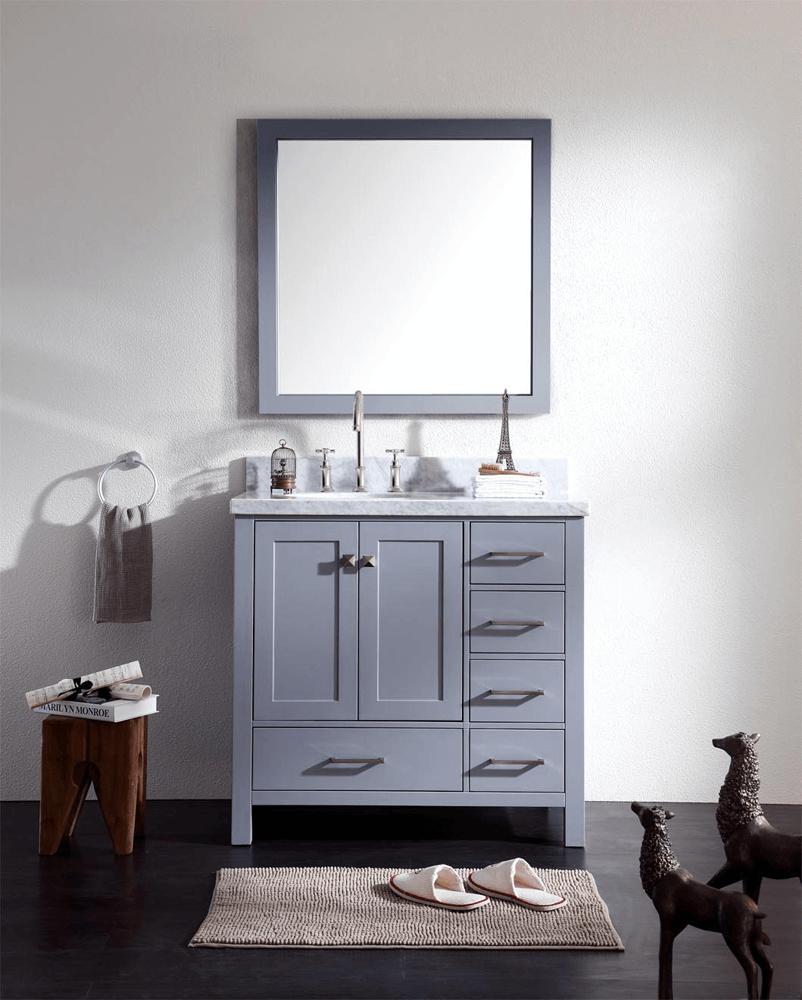 Offset sink bathroom vanity