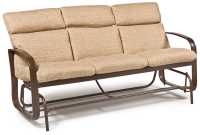 Outdoor Glider Cushions Brown Metal