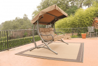 Outdoor Glider with Canopy