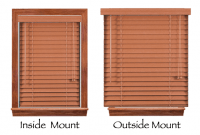 Outside Mount Blinds with Window Trim