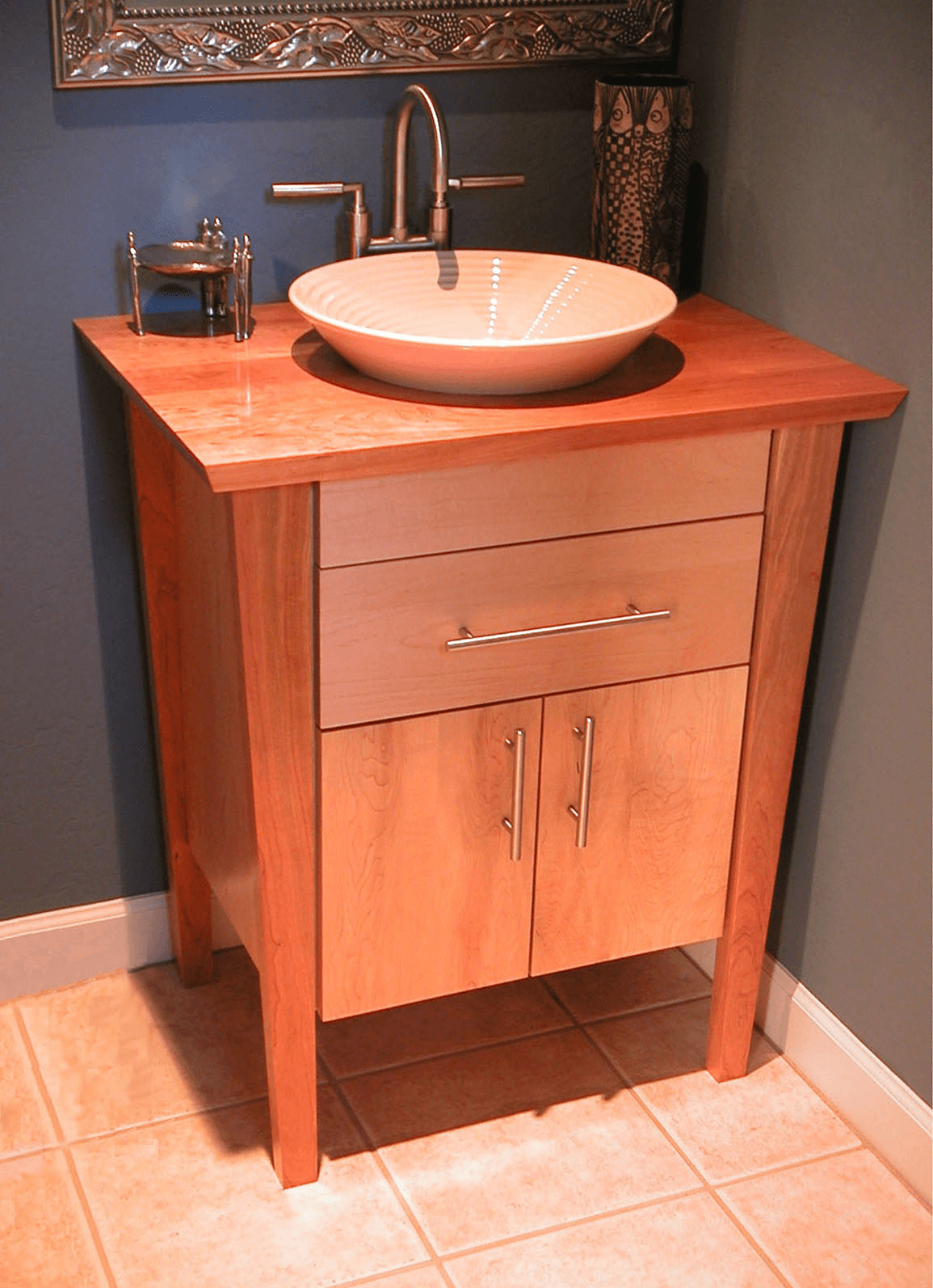 A Modern Living Room, Pedestal Sink Vanity Cabinet The Pros And Cons