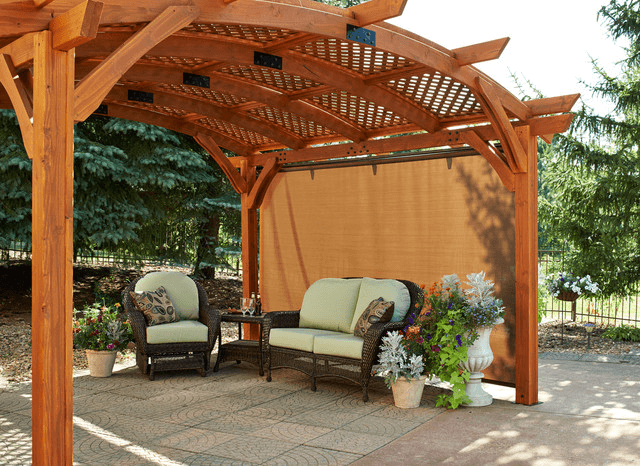 Pergola retractable outdoor shades