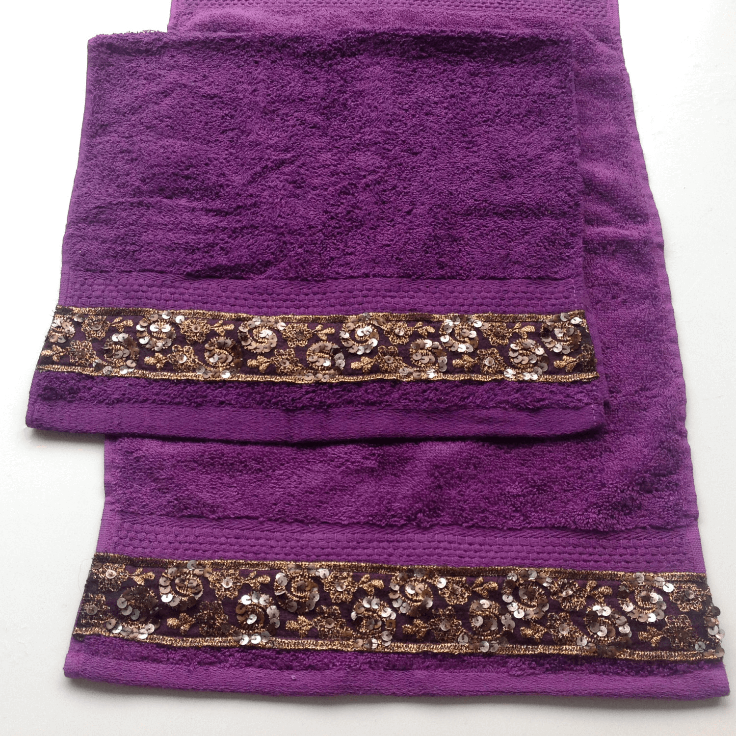 Purple Decorative Bathroom Towels Easyhometips Org