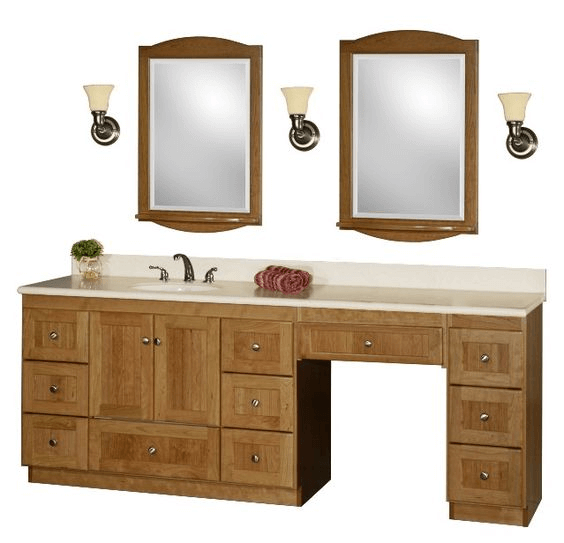 Small Bathroom Vanity With Makeup Area Easyhometips Org