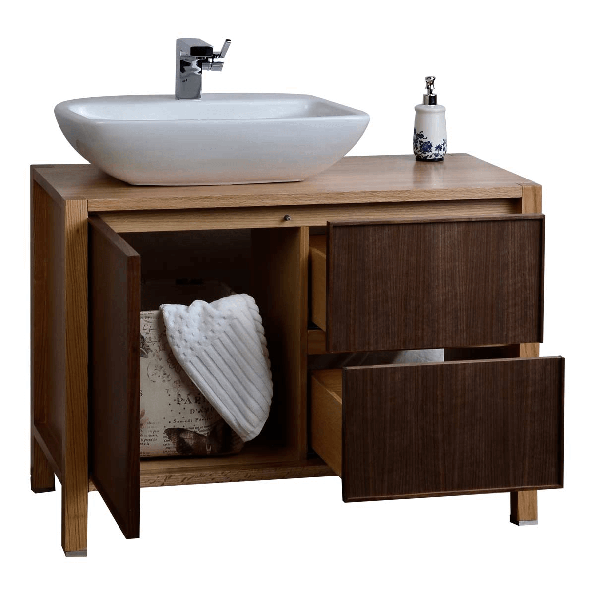 Buying tips on bathroom vanity with sink on left side types styles and materials Solid wood bathroom vanities cabinets