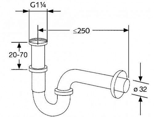 bathroom sink drain pipe size  guide on size and units