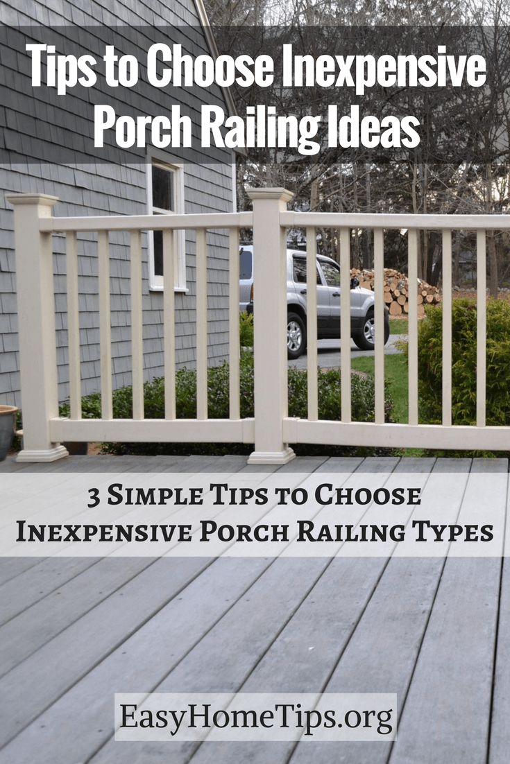 Tips to Choose Inexpensive Porch Railing Ideas