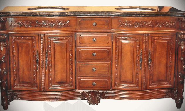 Wooden antique bathroom vanities without countertops design ideas