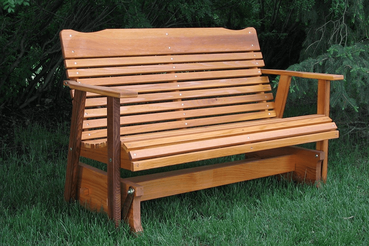 Wooden porch glider swings suitable for outdoor or garden