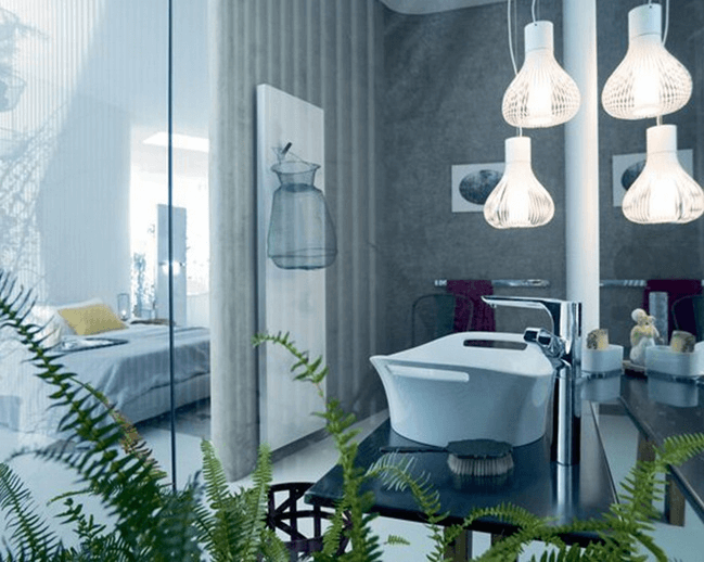 Bathroom Pendant Lighting Ideas for modern small space