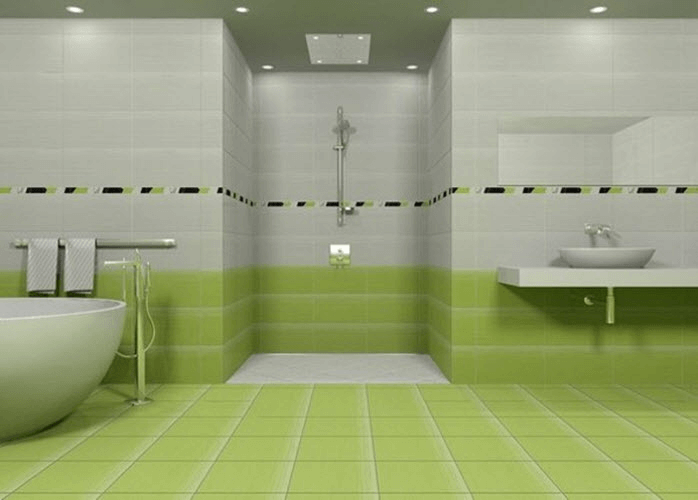 Bathroom Tile Ideas Green