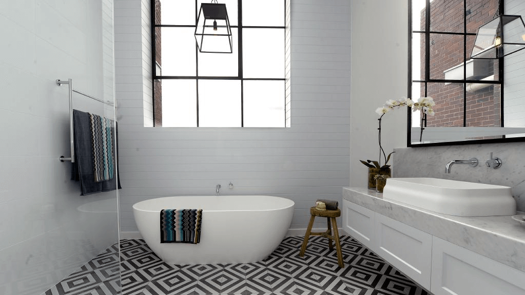 Bathroom tile designs on a budget