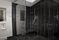 Black Bathroom Tile Designs on a Budget