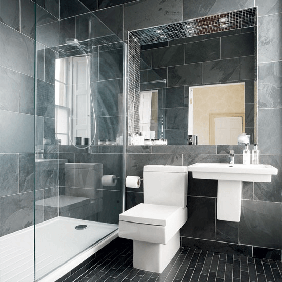 Contemporary Charcoal Grey Bathroom
