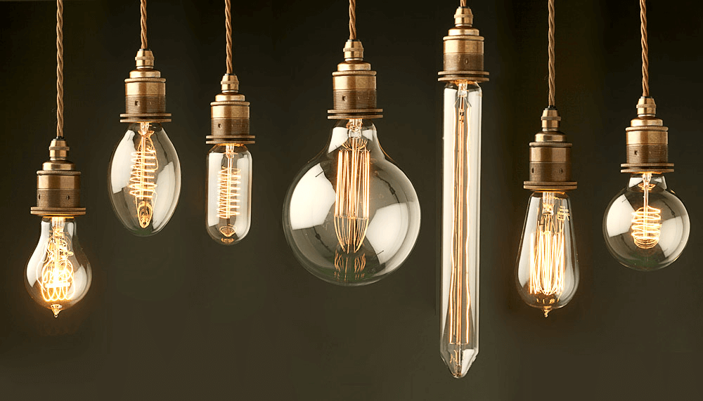 Edison bulb string lighting