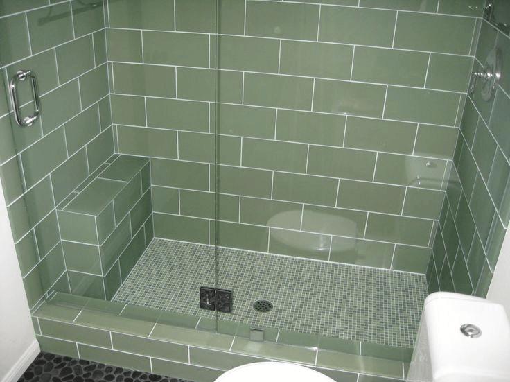 Green Celery Tiles for Shower Floors