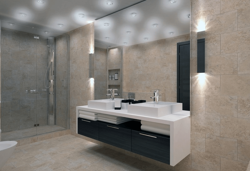 LED Bathroom Ceiling Lighting Ideas