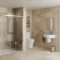 Lux Monaco Alcove bathroom tile ideas walk in shower