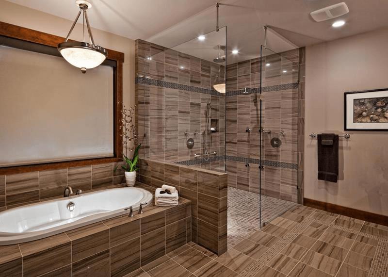 Luxury bathroom tile ideas walk in shower