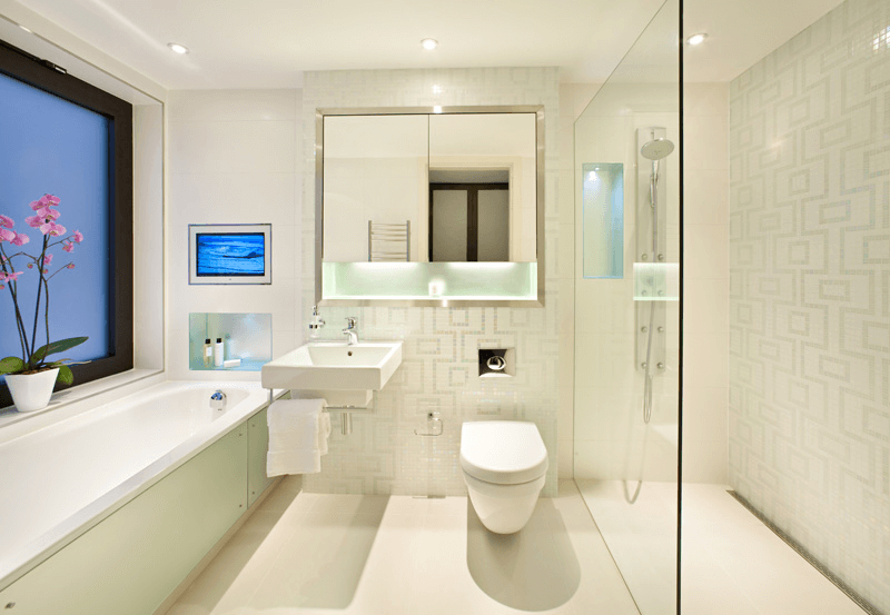 Modern bathroom lighting design ideas
