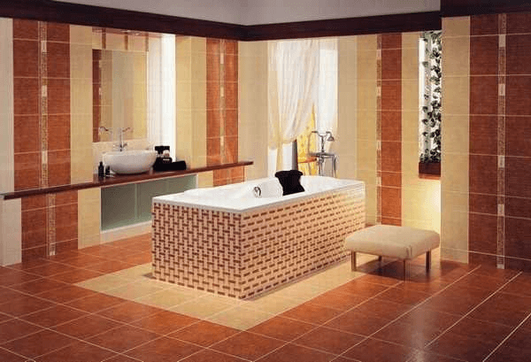 Modern wall tile and floor design for bathroom