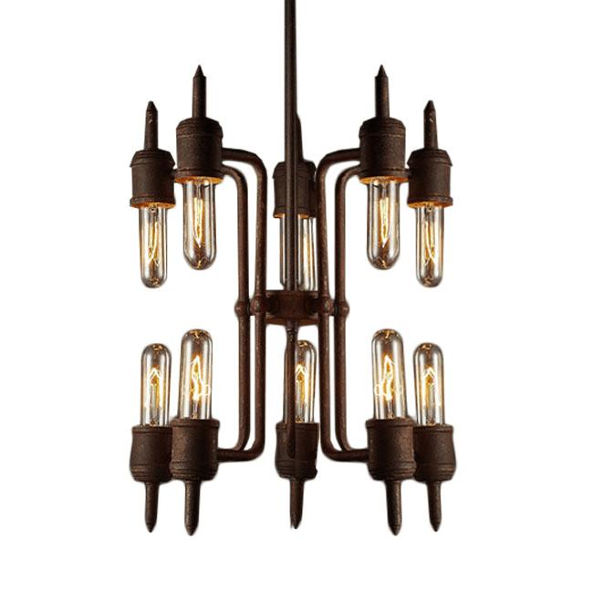 Rusted Iron and Edison Bulbs