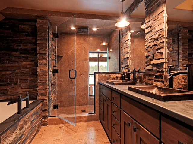Rustic Bathroom Lighting Ideas