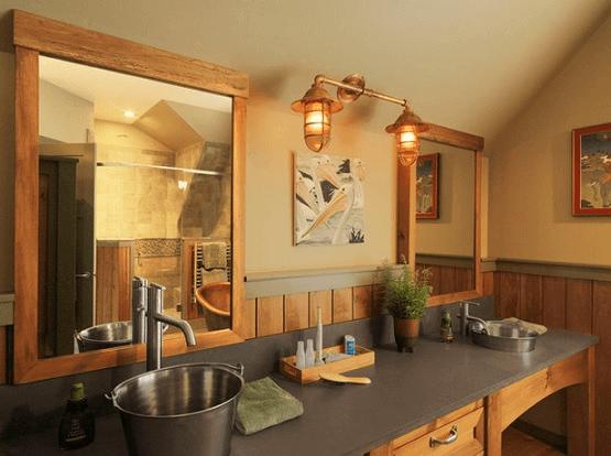 Rustic lighting ideas for contemporary bathroom design
