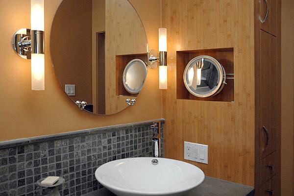 Tubular sconce for bathroom vanity lighting