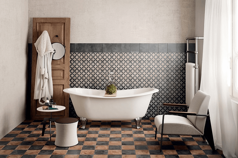 Vintage Bathroom Floor Tile Designs Easyhometips Org