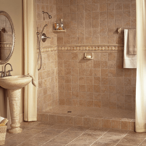 Vintage bathroom tile ideas for small shower area