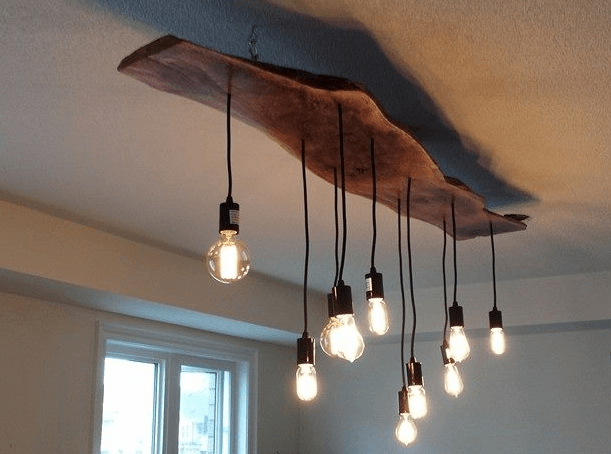 Wooden Structure with String Light