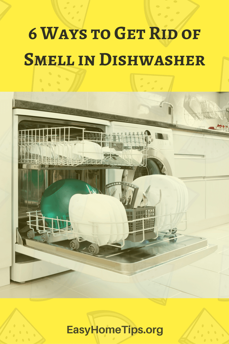 how to clean a dishwasher that smells