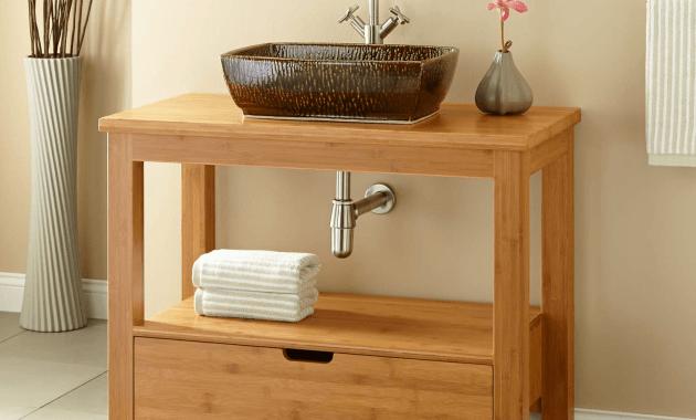 Bathroom Vanity Unfinished Wood Decor
