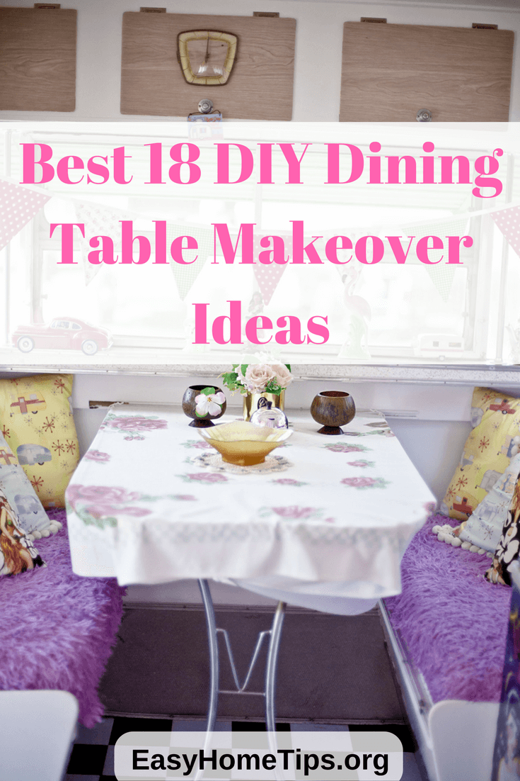 Best 18 diy dining room table makeover ideas for Homemade dining room table ideas