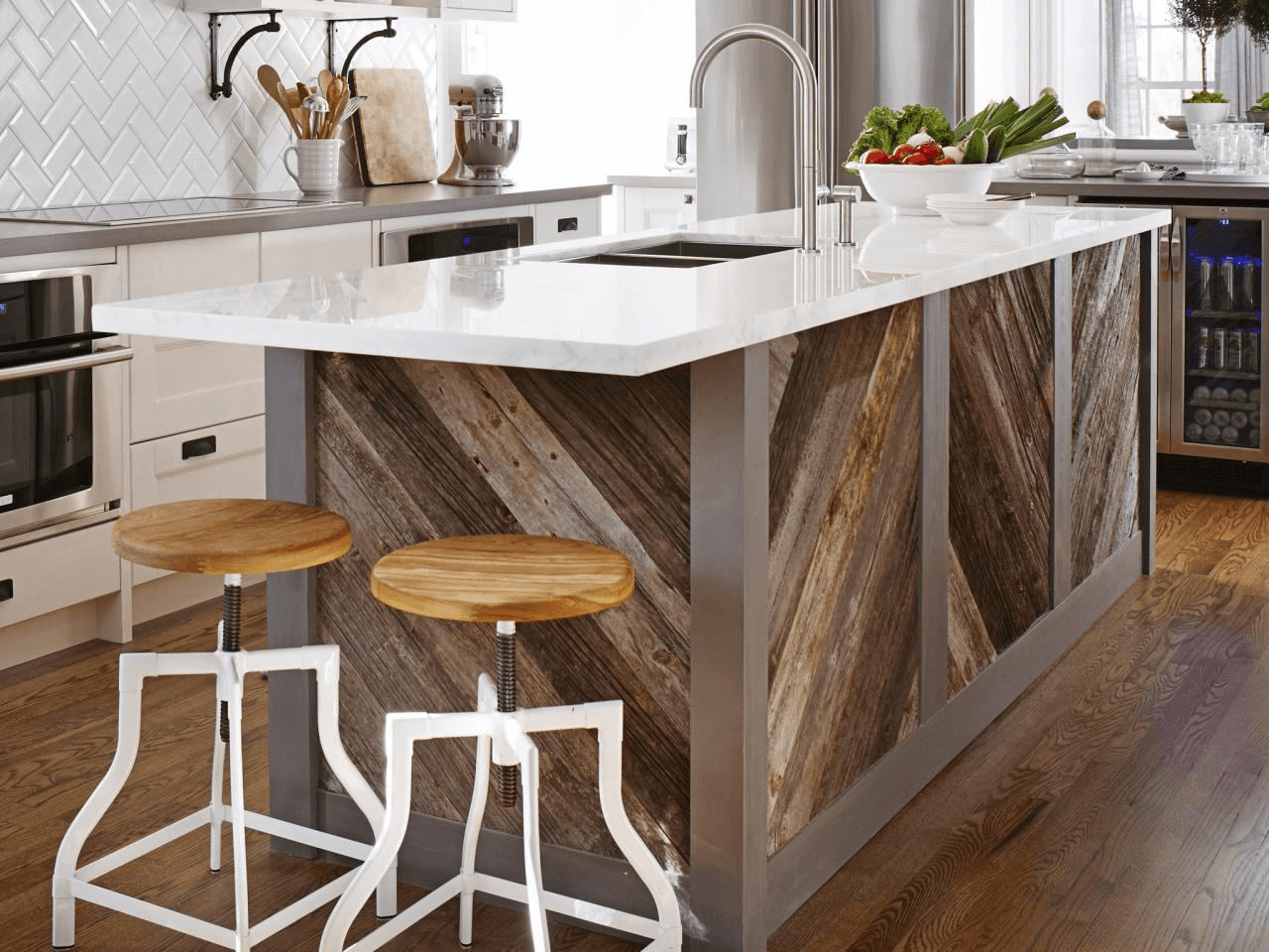 Cherry wood kitchen island with sink and dishwasher design ideas