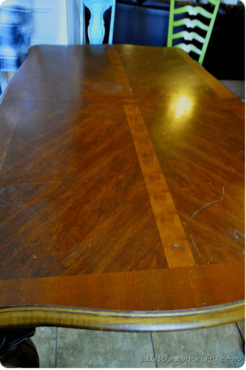 Creative paint diy dining table makeover ideas before