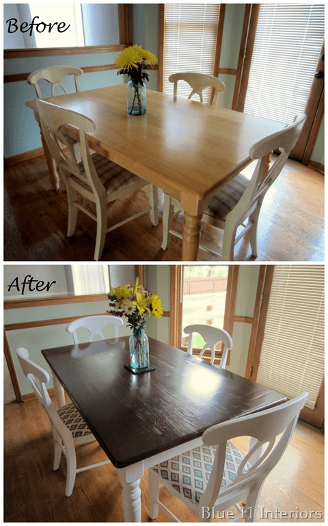 DIY dining room table and chairs makeover ideas before and after