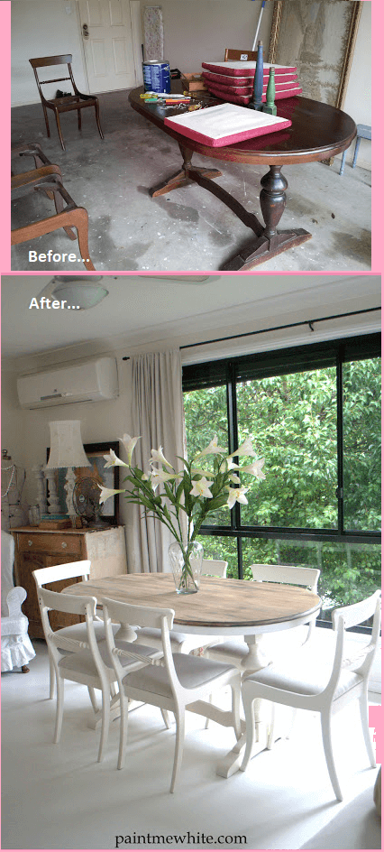 DIY dining table and chairs makeover ideas aged look