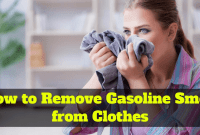 How to Remove Gasoline Smell from Clothes